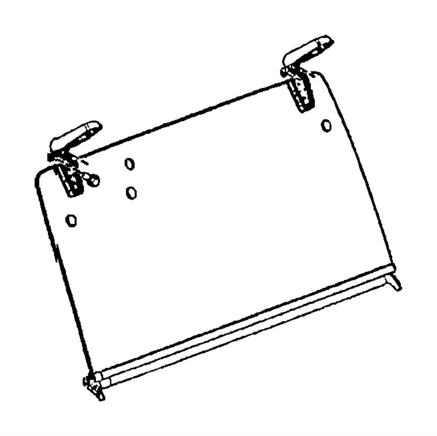 Jeep Wrangler Seal. Liftglass lower to body. Window, rear