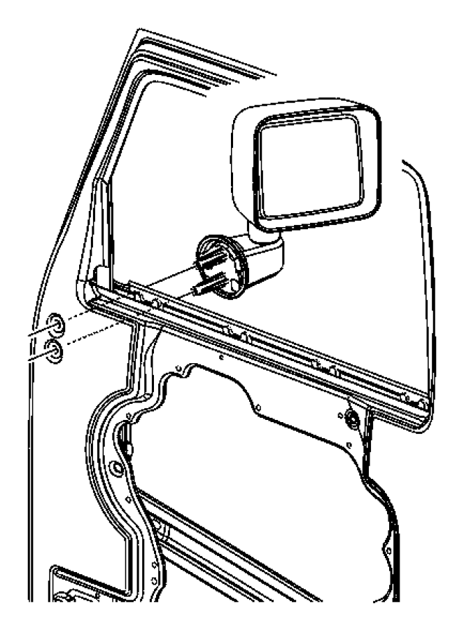 2009 Jeep Wrangler Mirror. Outside manual. Left hand drive