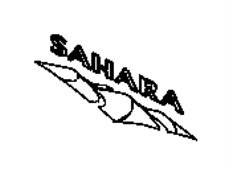 2015 Jeep Wrangler Decal. Sahara. [sahara badge], [sahara