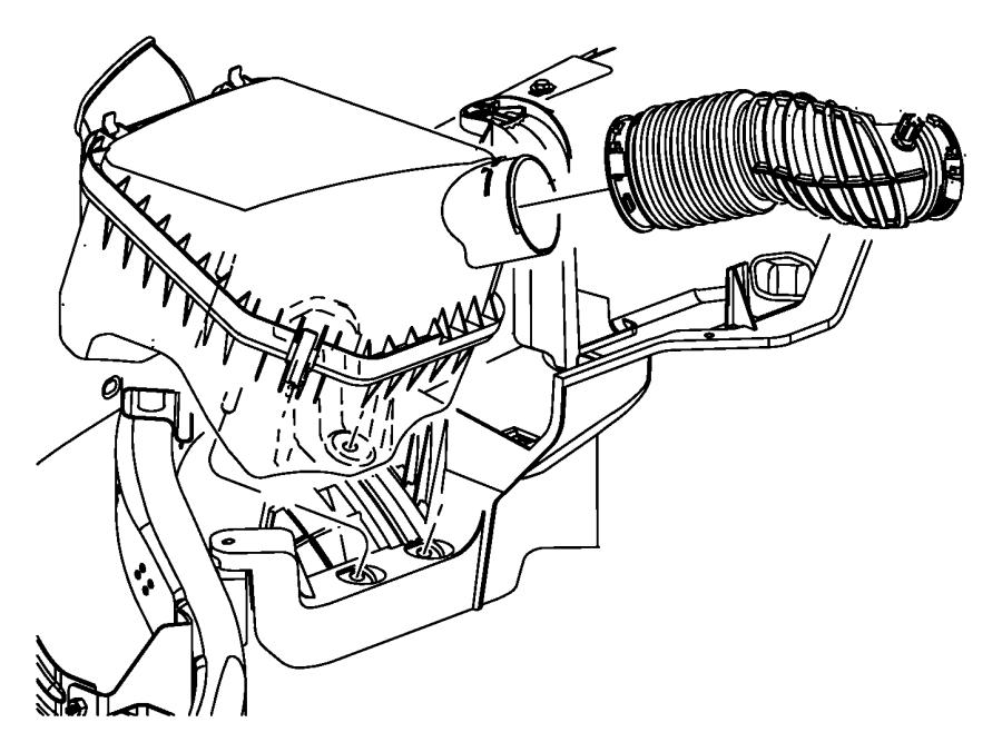 2010 Jeep Wrangler Clamp. Hose. Hose to throttle body. Air