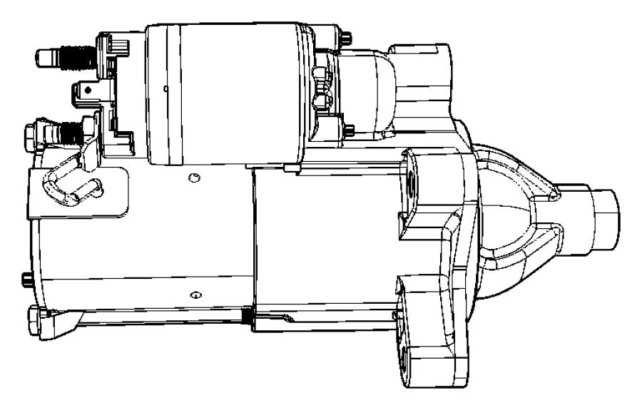 2009 Jeep Wrangler Starter. Engine. Remanufactured