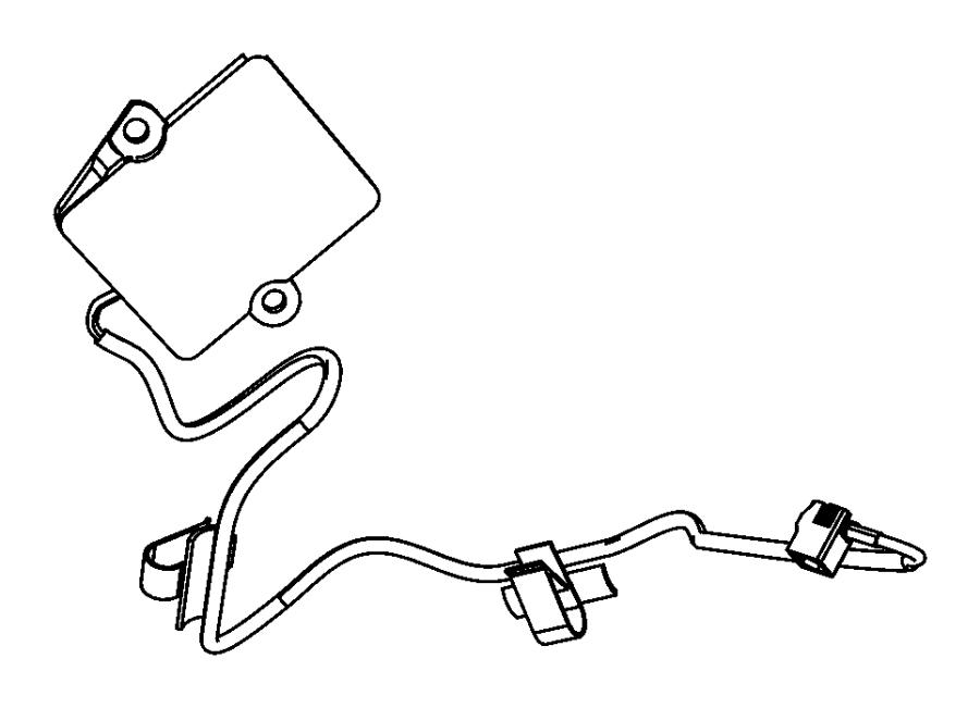 2009 Jeep Wrangler Antenna. Keyless entry. Start, panel