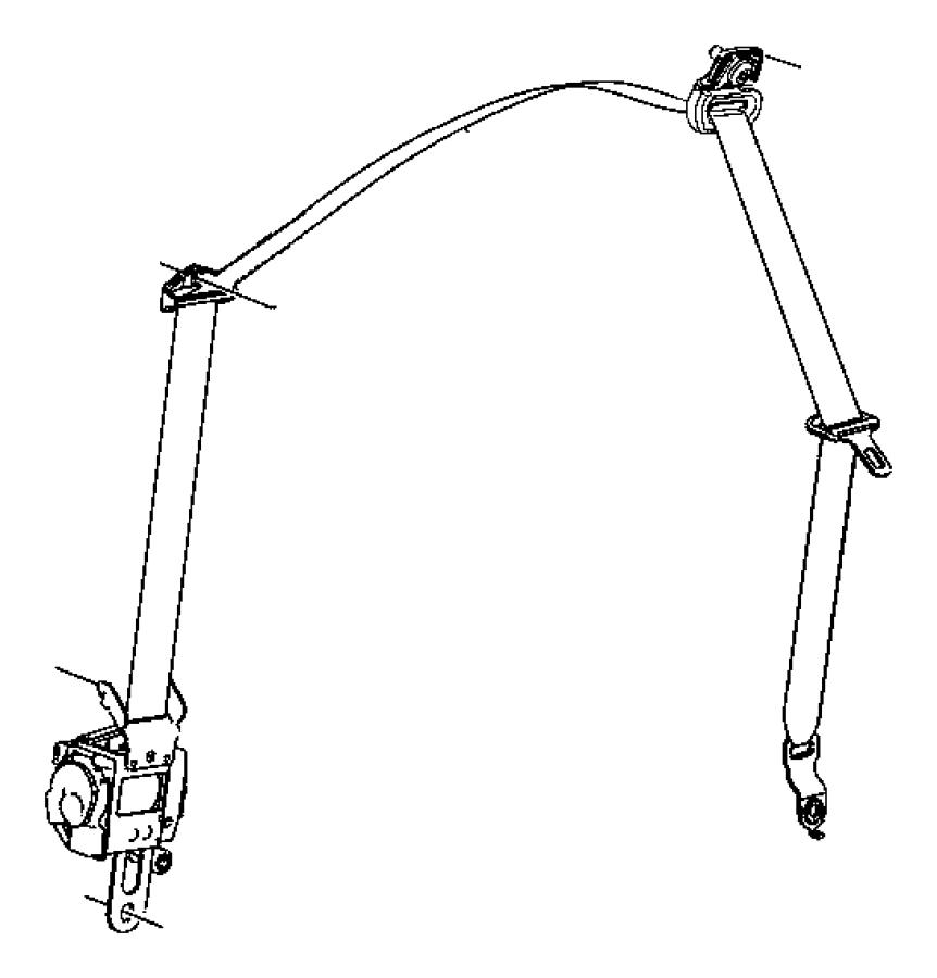 Jeep Wrangler Bolt, screw. Pan head, round head, seat belt