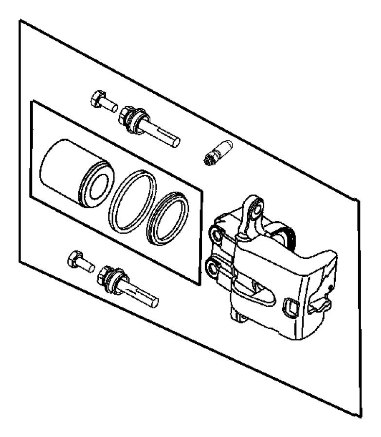 Dodge Challenger Caliper assembly. Disc brake. Rear. Left