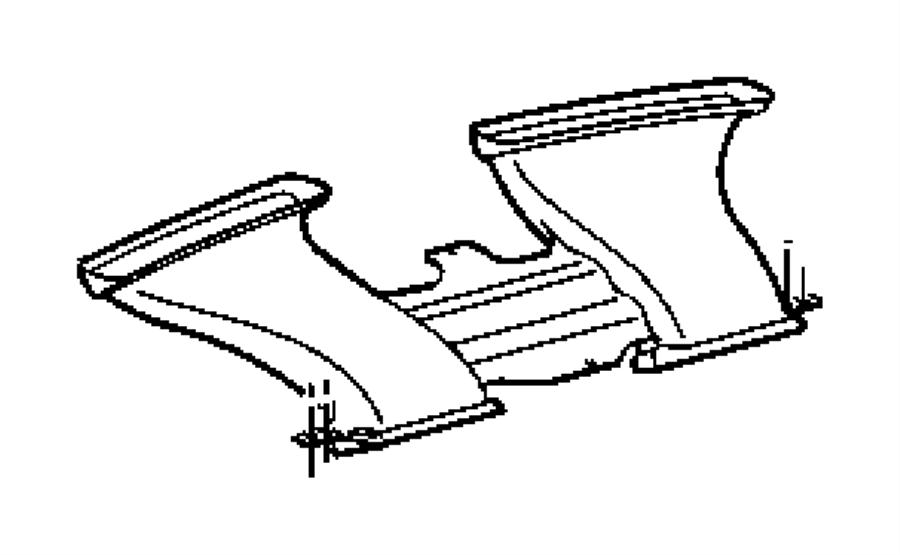 2012 Dodge Challenger Duct. Defroster. Trim: [all trim