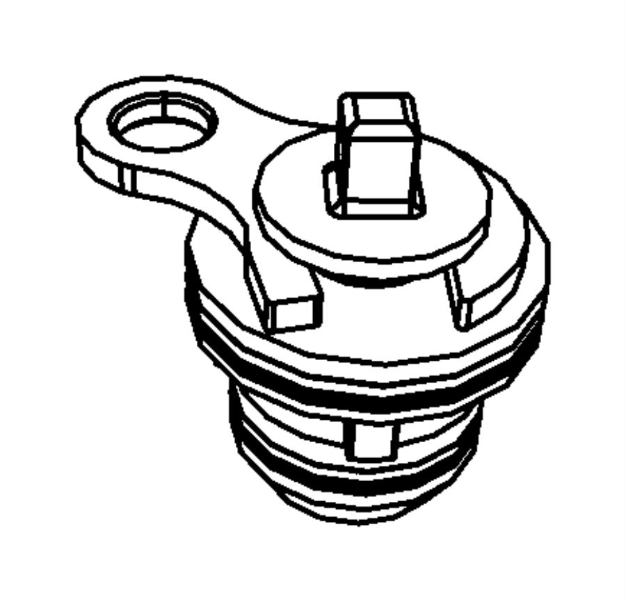 2004 Dodge Ram 2500 Plug. Cylinder block. Mds solenoid