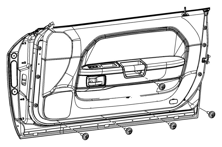 2010 Dodge Challenger Molding kit. Door belt. [mopar hood