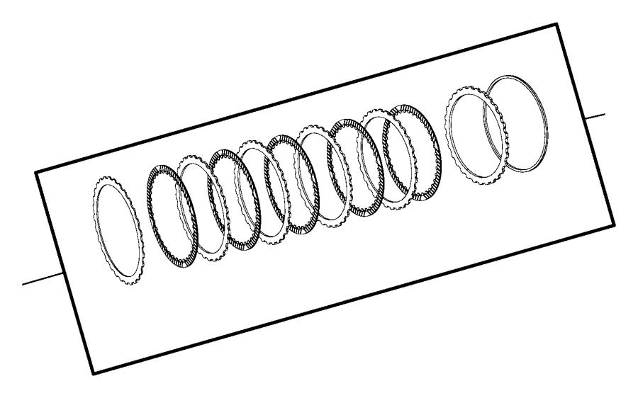 Dodge Challenger Clutch package. K2 input clutch. Engine