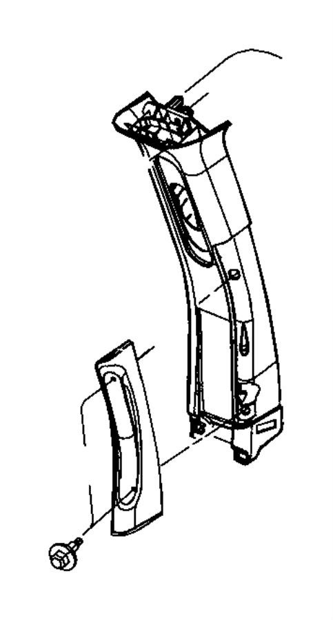 Chrysler Town & Country Panel. B pillar upper trim. Right