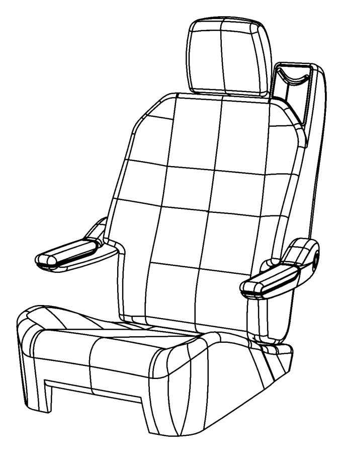 Chrysler Town & Country Cover. Rear seat cushion. [ds