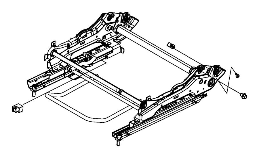 2008 Chrysler Town & Country Adjuster. Manual seat. Trim