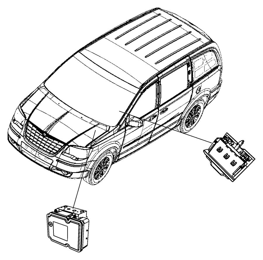 Chrysler Town & Country Module. Anti-lock brake system