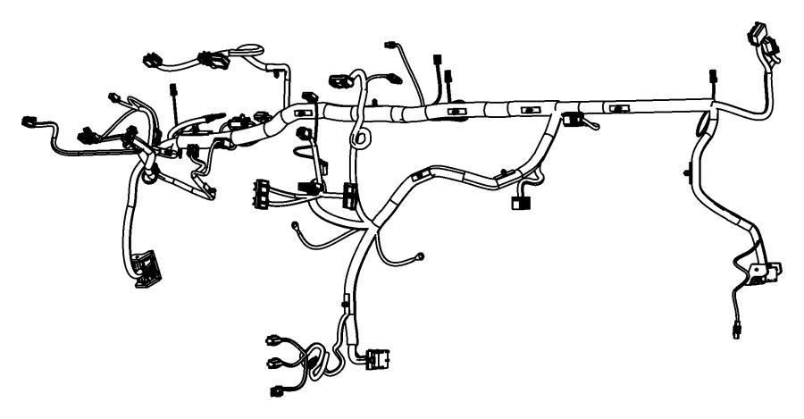 2010 Dodge Grand Caravan Wiring. Instrument panel. Nav