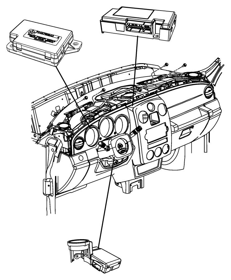 2009 Chrysler PT Cruiser Module. Telematics. With