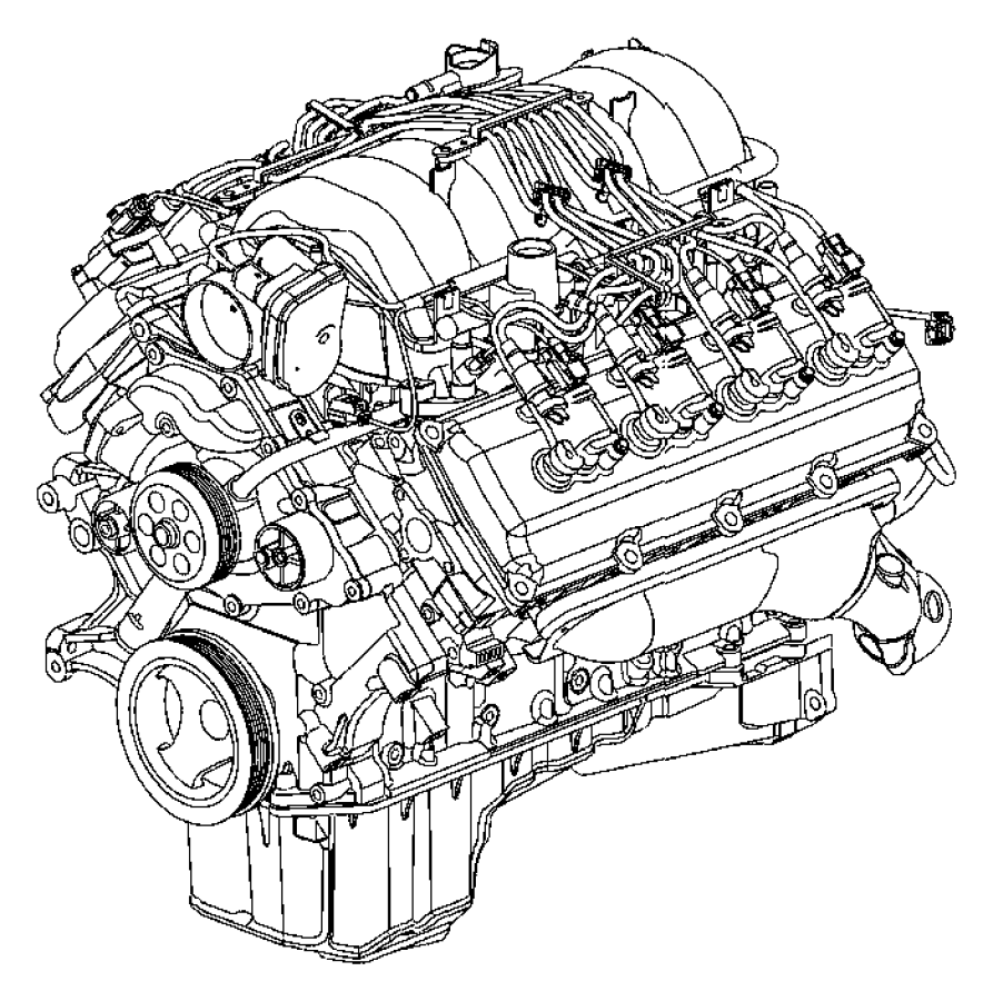 2009 Dodge Durango Engine. Long block. Remanufactured