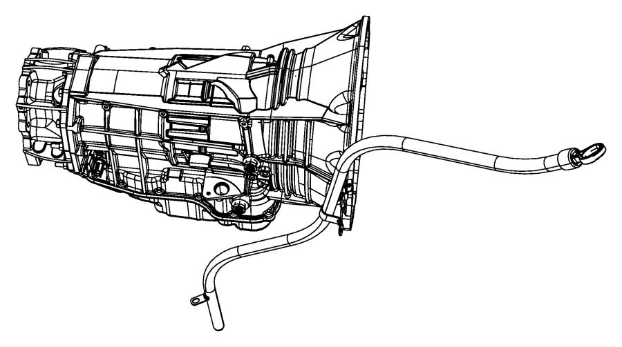 2016 Ram 3500 Tube. Transmission oil filler. Case