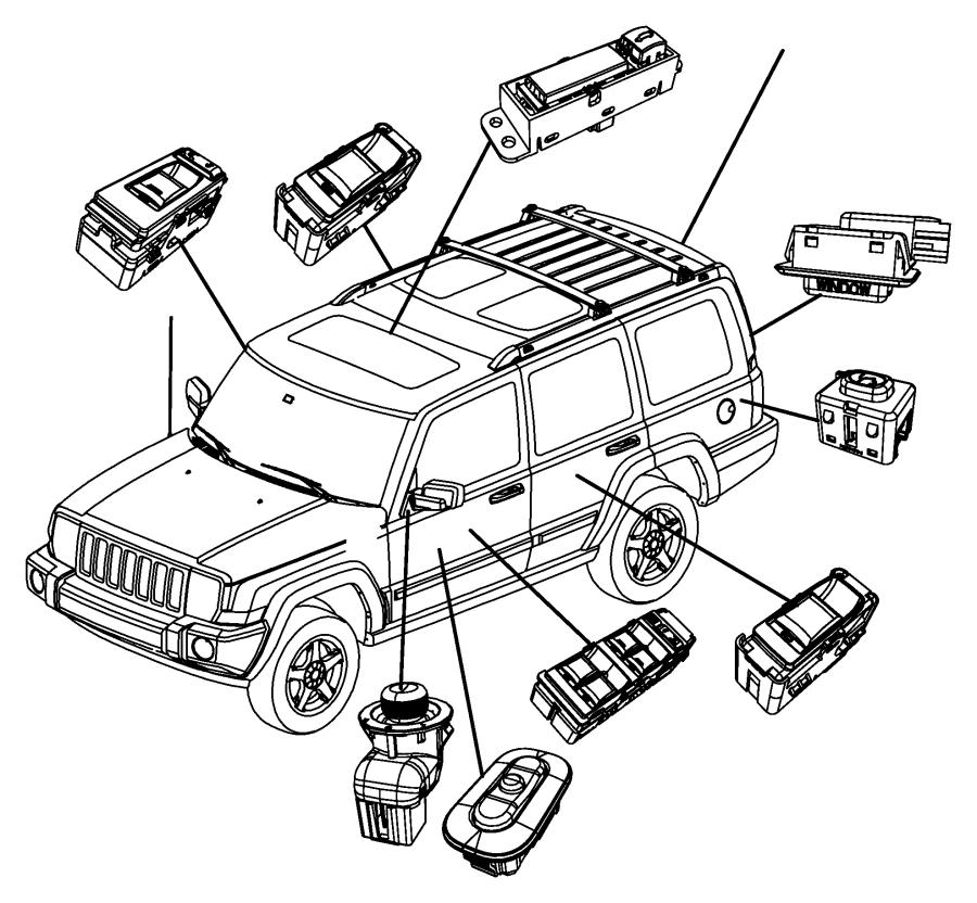 2009 Jeep Grand Cherokee Switch. Memory selector. [dv
