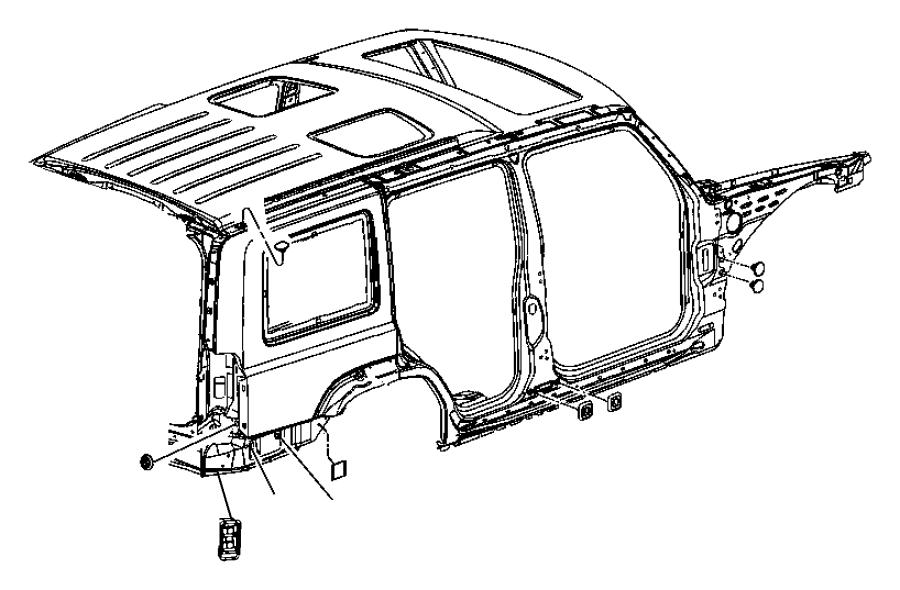 2008 Dodge NITRO Exhauster. Bodyside aperture. Right, used