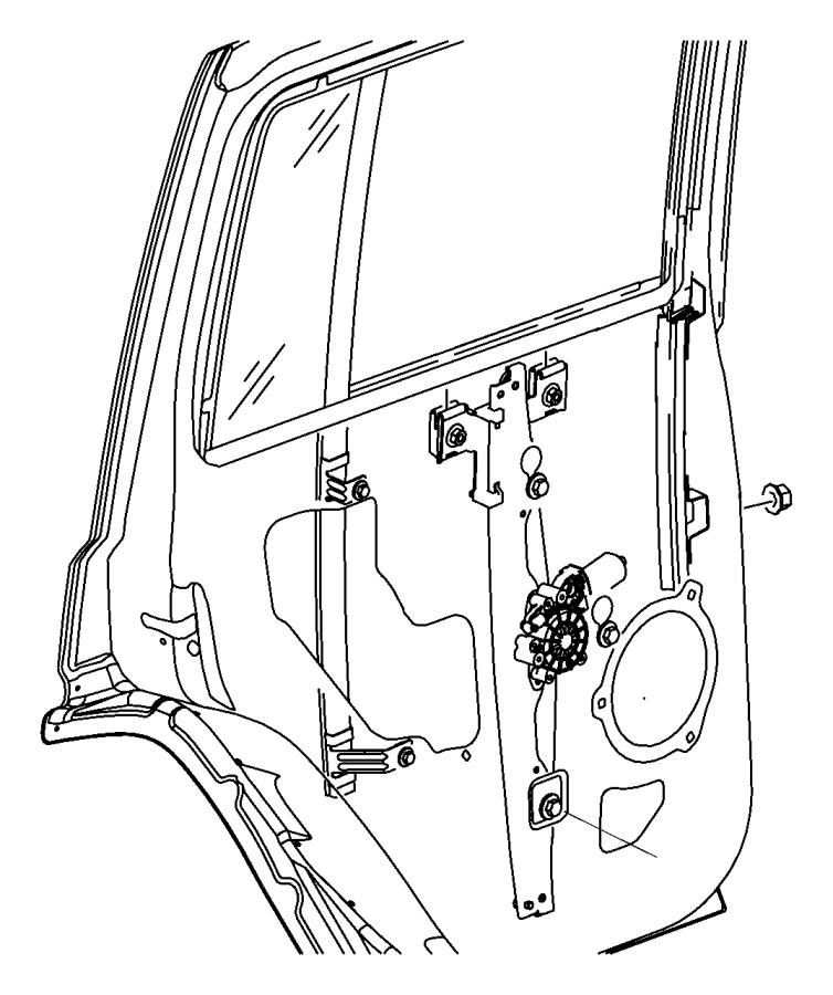Jeep Commander Regulator. Rear door window. Left. Mopar