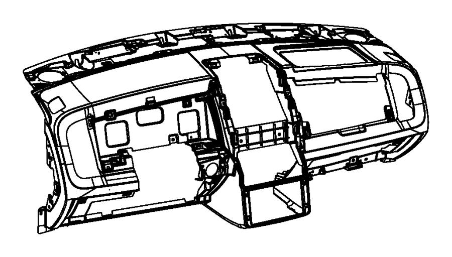 Dodge Journey Panel. Instrument panel. [ka]. Trim: [all