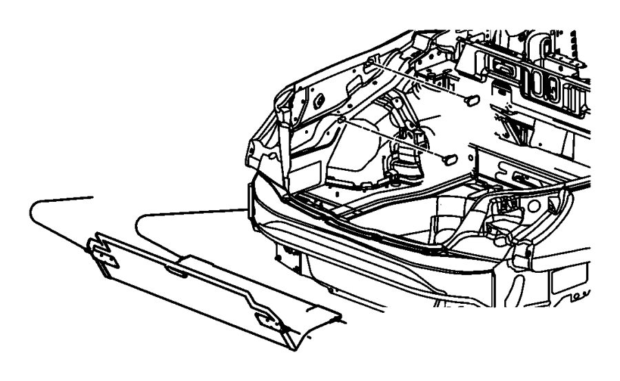 Chrysler Sebring Panel. Storage compartment. Trim: [no