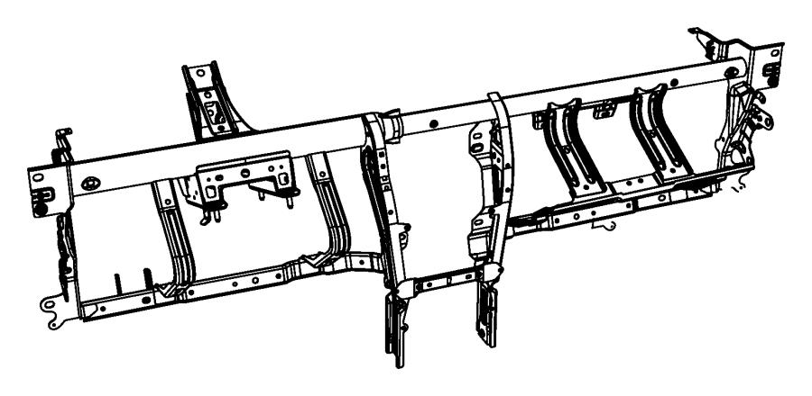 2010 Chrysler Sebring Reinforcement. Instrument panel