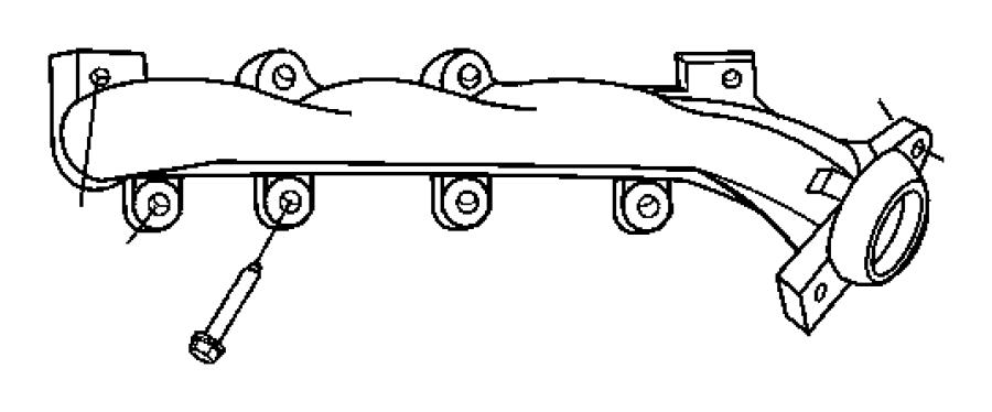 2011 Dodge Dakota Manifold. Exhaust. Left, left side. Crew