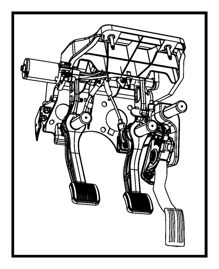 Dodge Ram 2500 Pedal assembly. Adjustable. Used for: brake