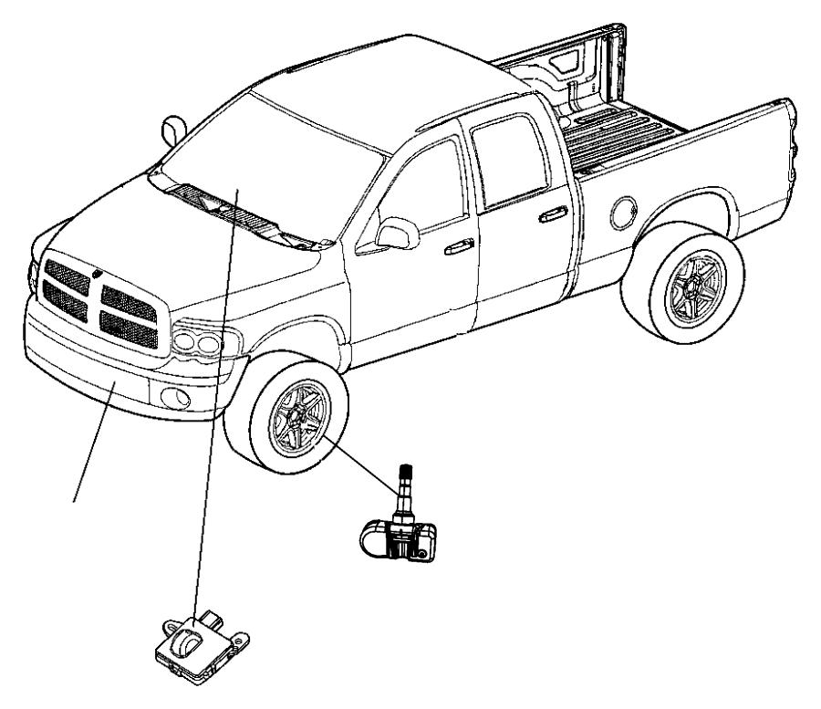 2012 Jeep Grand Cherokee Sensor. Tire pressure. Magneti
