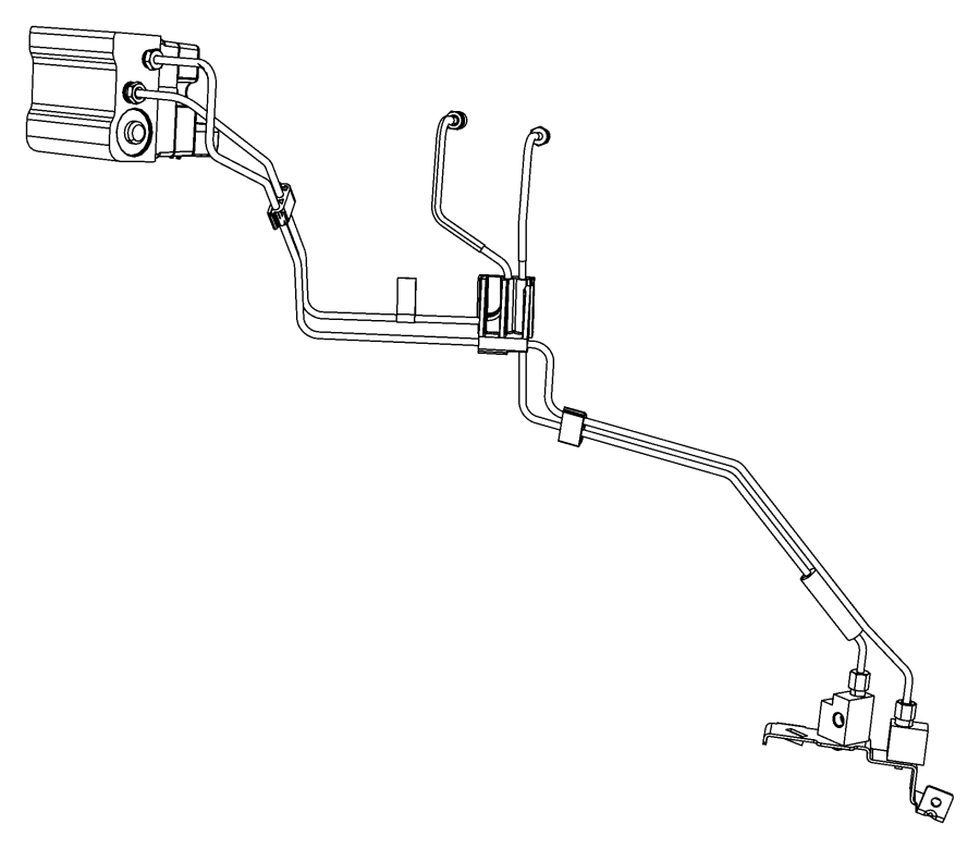 2013 Dodge Avenger Block, junction block. Brake line union