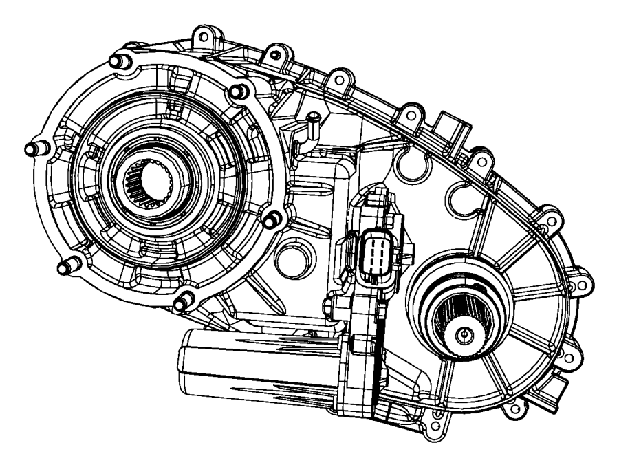 2011 Dodge Dakota Transfer case. Nv243. Used with [4-spd