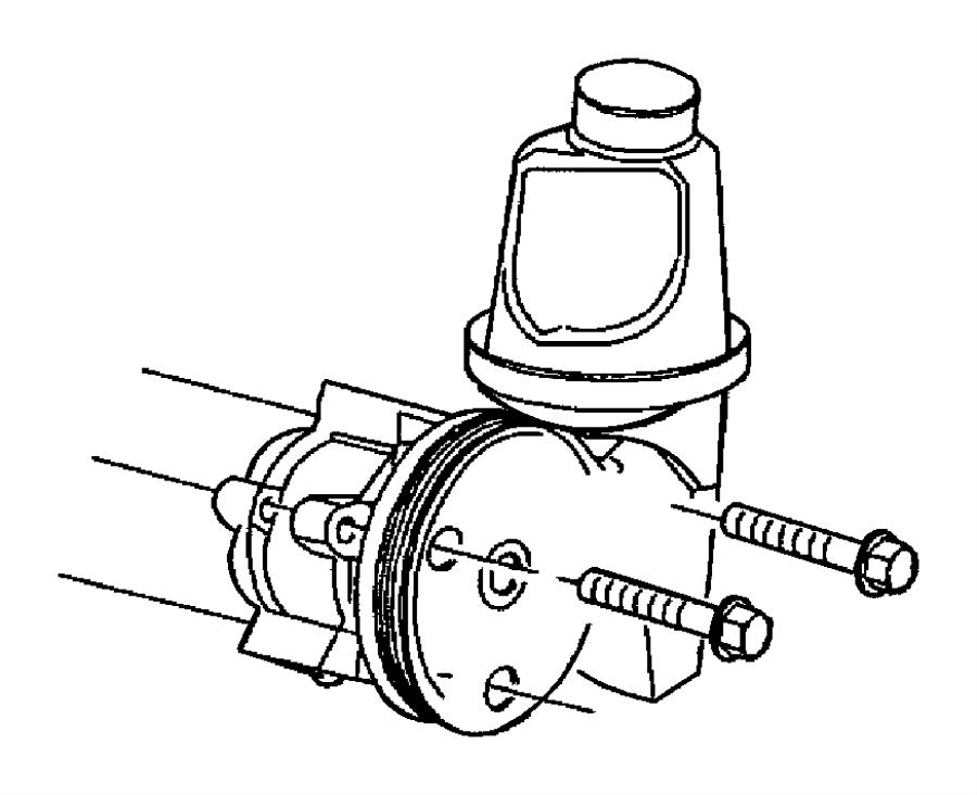 2011 Dodge Dakota Pulley. Power steering pump. Maintenance
