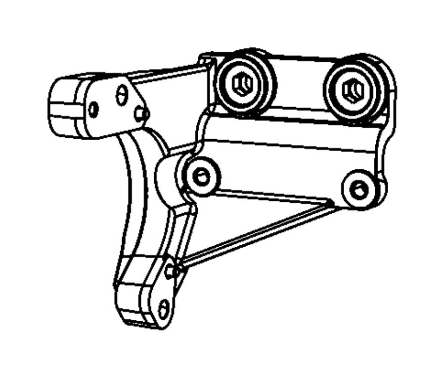 Dodge Journey Bracket. Halfshaft. [2.0l 4 cyl dohc dpf
