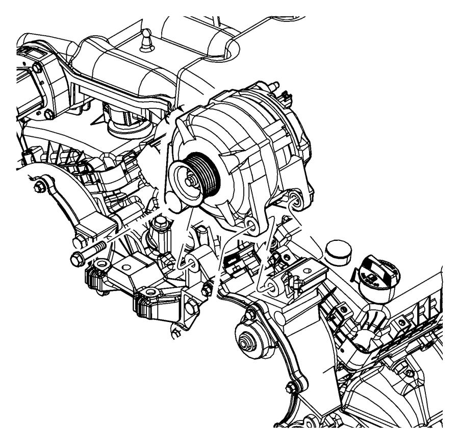 Dodge Journey Generator. Engine. [160 amp alternator