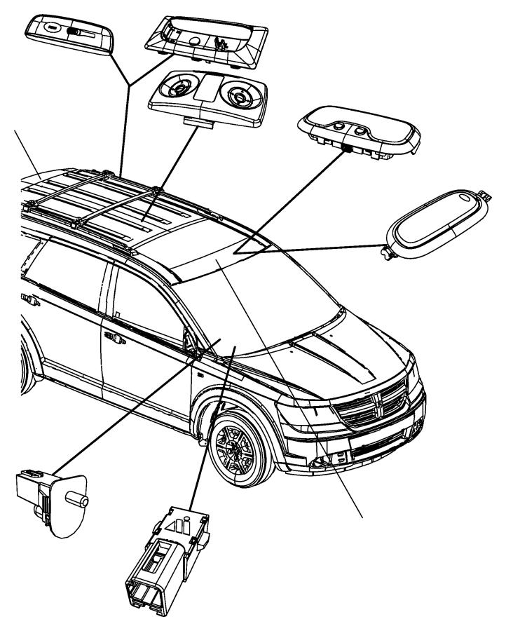 2009 Dodge Journey Lamp. Dome. Trim: [all trim codes