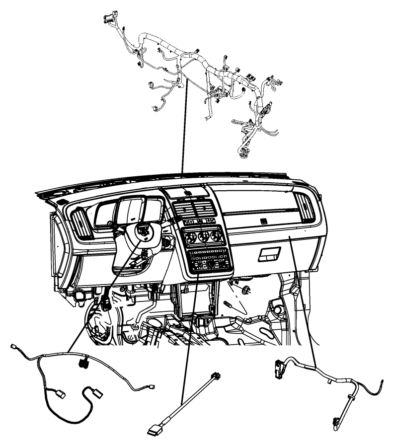 2011 Dodge Journey Wiring. Overlay. Instrument, panel