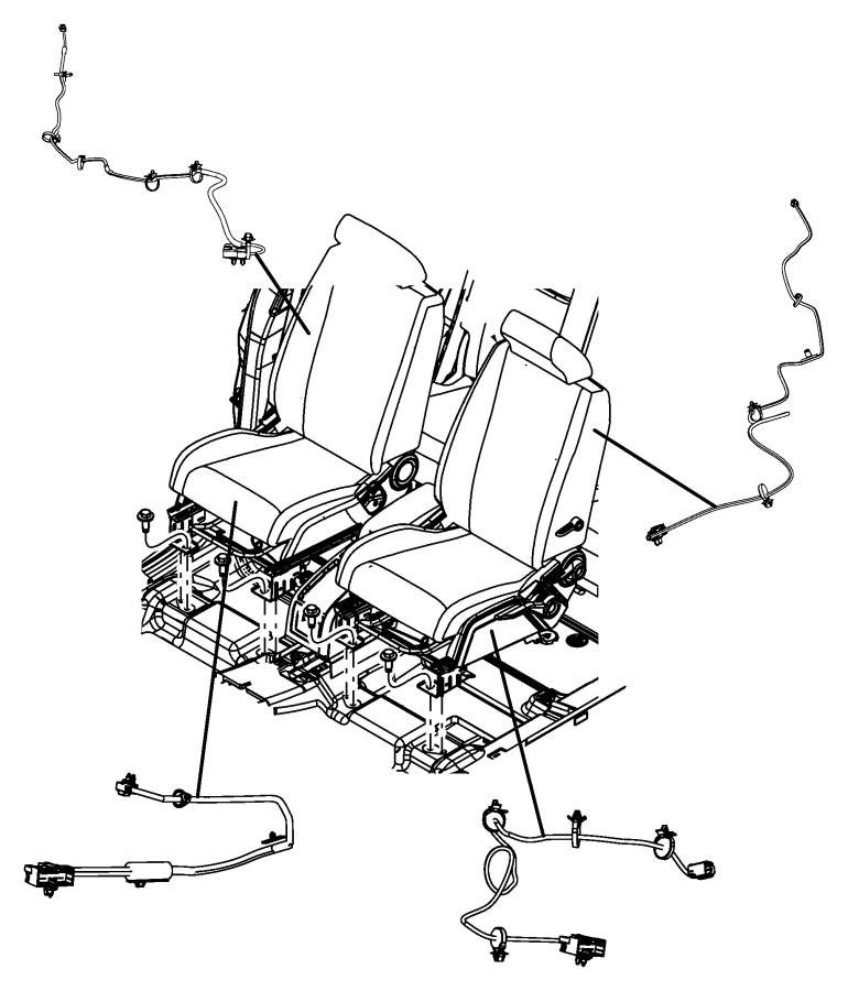 2010 Dodge Journey Wiring. Seat. Left. Active head rest