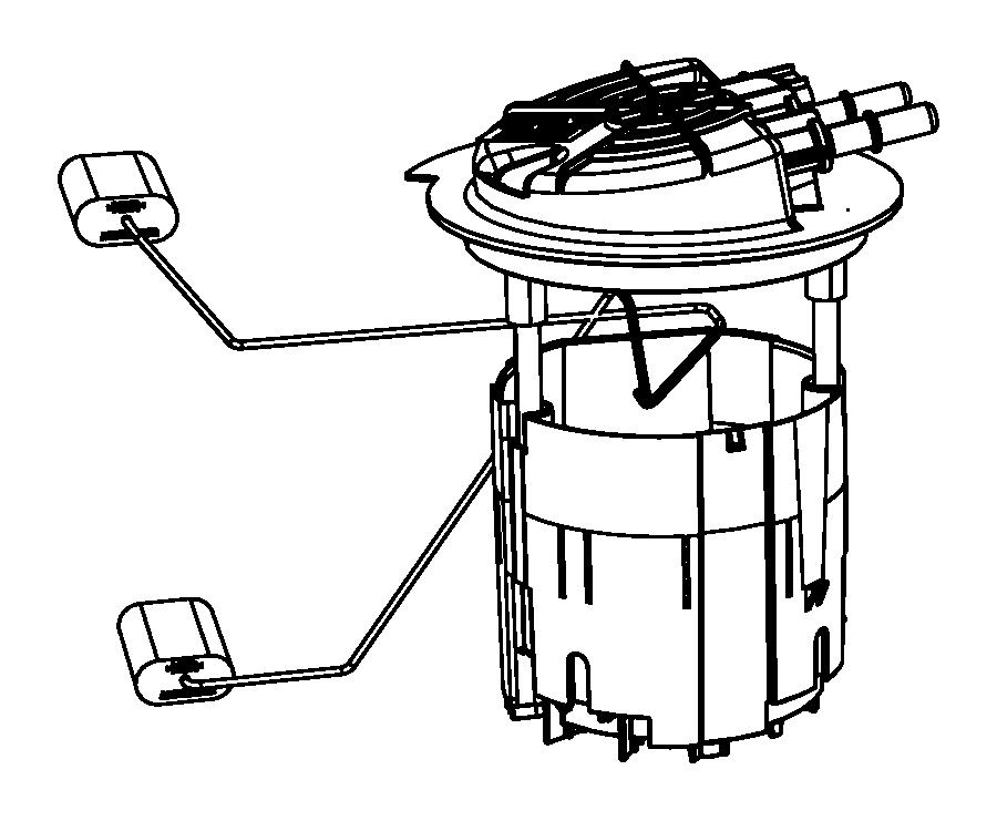 2010 Dodge Journey Module. Fuel pump/level unit. Tank