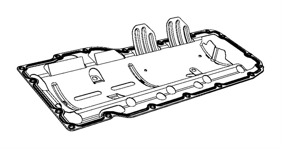 1997 Jeep Wrangler Gasket. Oil pan. Mounting. Crew cab