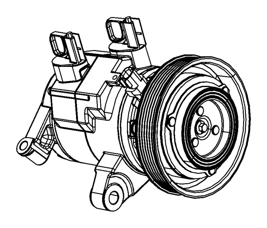 2010 Dodge NITRO Compressor. Air conditioning