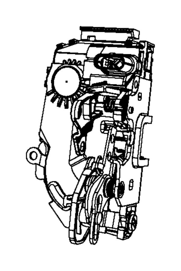 2009 Jeep Liberty Latch. Rear door. Right. Mopar, module