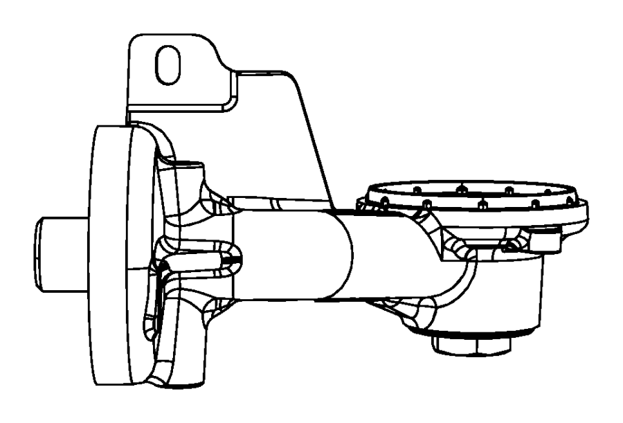 Dodge Grand Caravan Gasket. Oil filter adapter. Engine