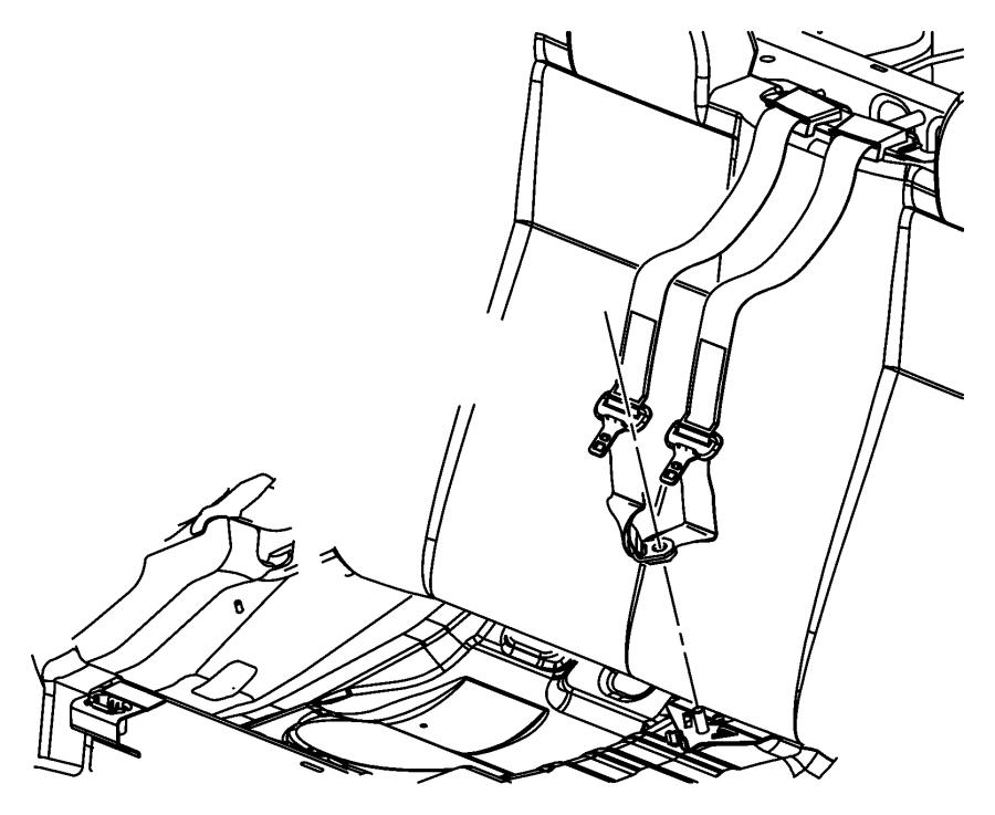 2009 Chrysler Sebring Bezel. Seat belt. Trim: [all trim