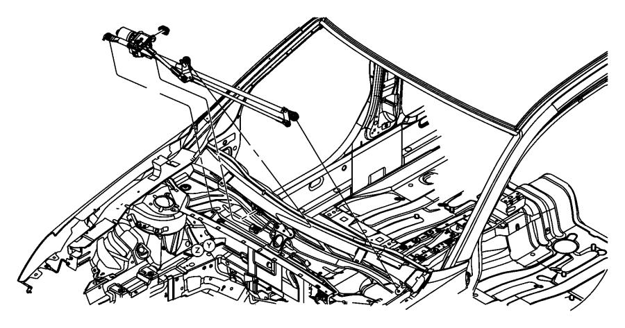 2007 Chrysler Sebring Grommet. Wiper frame. [var
