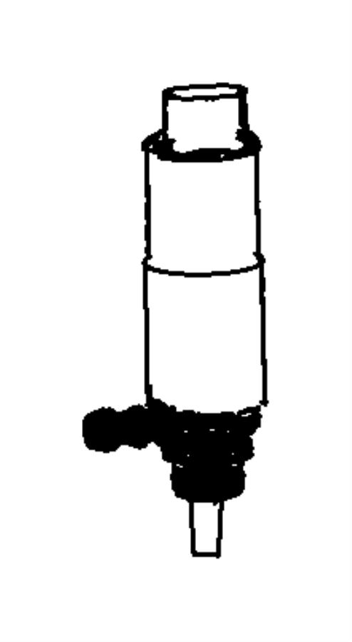Chrysler Town & Country Pump. Washer, headlamp. [headlamp