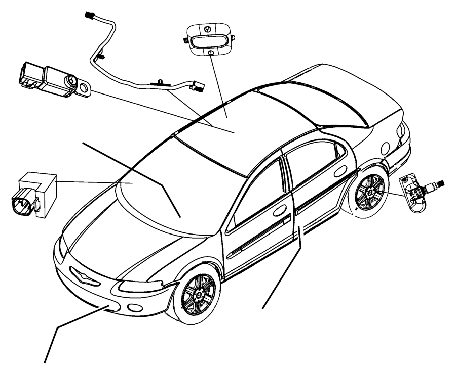 2006 Dodge Magnum Sensor. Tire pressure. Containes