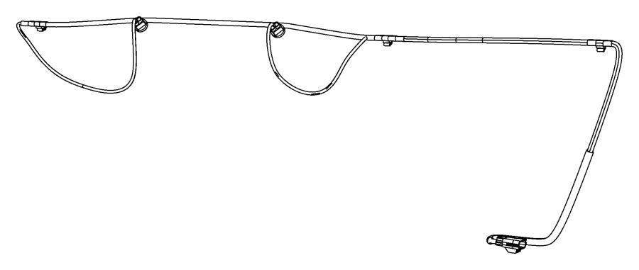 Dodge Avenger Harness, wiring. License lamp. Export
