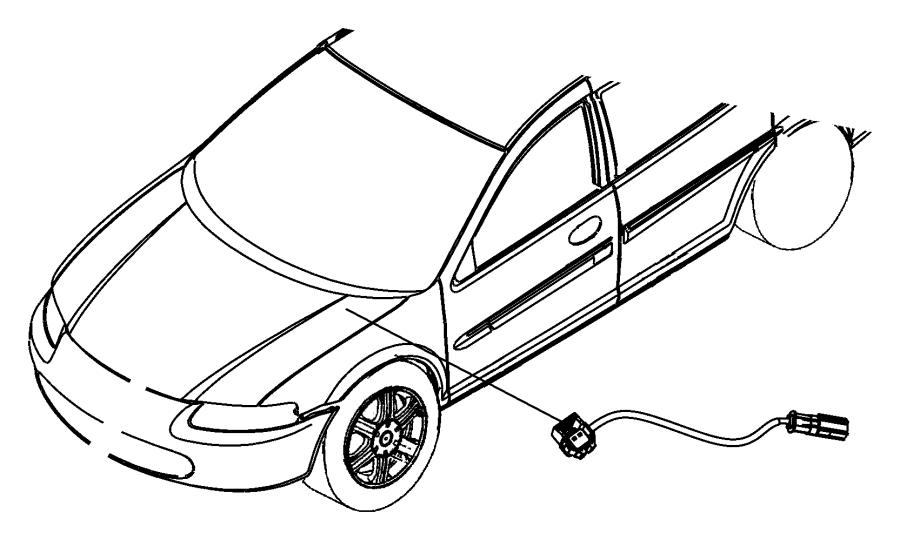Chrysler Sebring Wiring. Jumper. Brake master cylinder