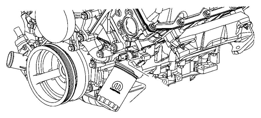 Dodge Ram 1500 Filter. Engine oil. Adapter, splash, guard