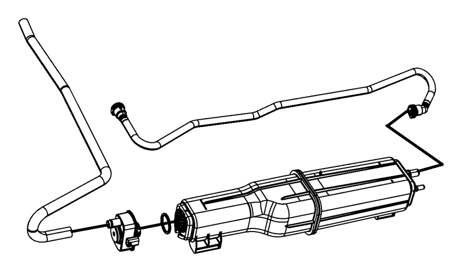 2010 Dodge Ram 1500 Canister. Vapor. [26 gallon fuel tank